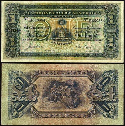 1913 K.G. V COLLINS & ALLEN ONE POUND NOTE