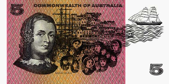 1967 COOMBS & RANDALL $5 NOTE