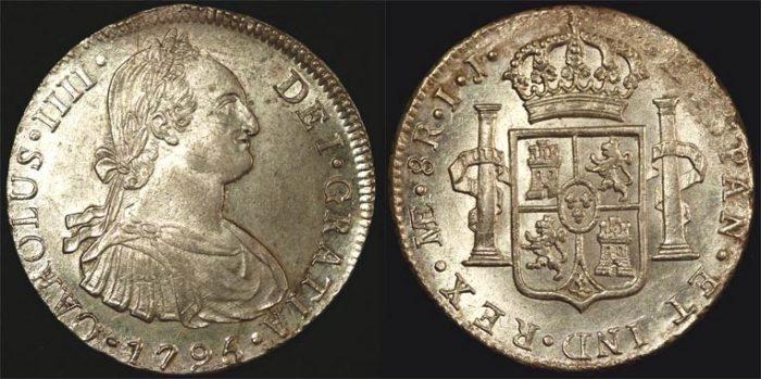 1795 IJ PERU CHARLES IIII 8 REALES