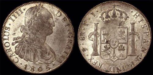 1805PJ BOLIVIA - CHARLES IIII  EIGHT REALES