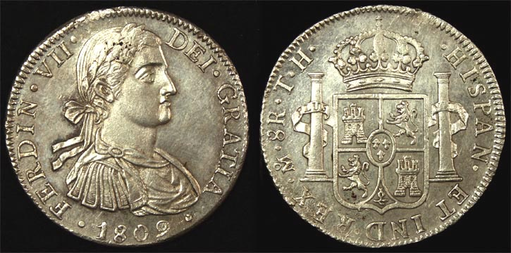 1809TH MEXICO FERDINAND VII EIGHT REALES
