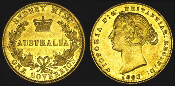 1860 SYDNEY MINT SOVEREIGN