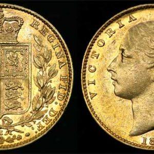 1880 MELBOURNE SHIELD SOVEREIGN