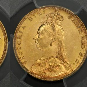 1891 MELBOURNE MINT JUBILEE HEAD SOVEREIGN  PCGS MS62