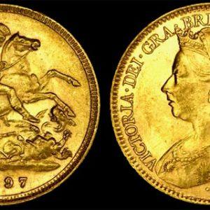 1897 SYDNEY MINT VEILED HEAD HALF SOVEREIGN (UNC)