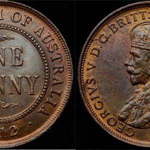 1912 K.G. V AUSTRALIA PENNY