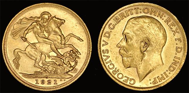 1921 SYDNEY MINT K.G. V SOVEREIGN