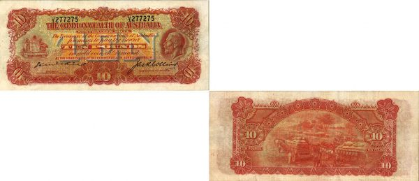 1925 K.G. V KELL & COLLINS TEN POUND NOTE