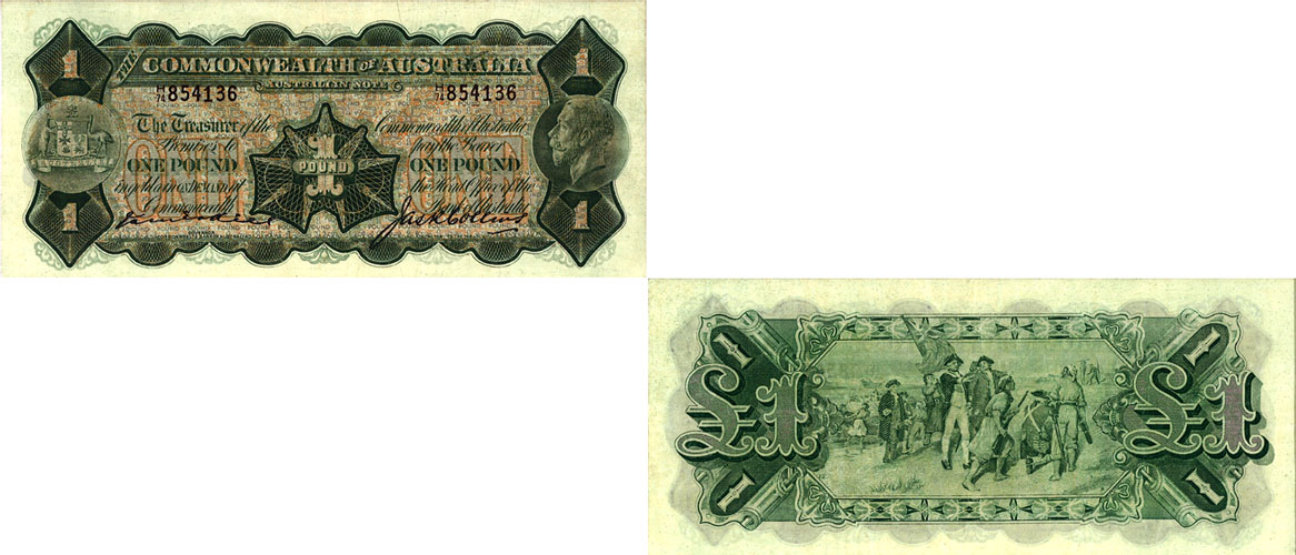 1926 KING GEORGE V KELL & COLLINS ONE POUND NOTE