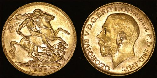 1926 PERTH MINT KING GEORGE V SOVEREIGN