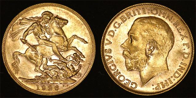 1926 PERTH MINT KING GEORGE V SOVEREIGN