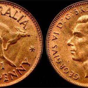 1941  K.G. VI AUSTRALIA HALFPENNY