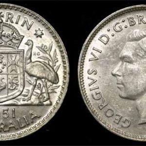 1951 KING GEORGE VI AUSTRALIA FLORIN