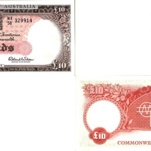 1960 Q.E. II COOMBS & WILSON TEN POUND NOTE