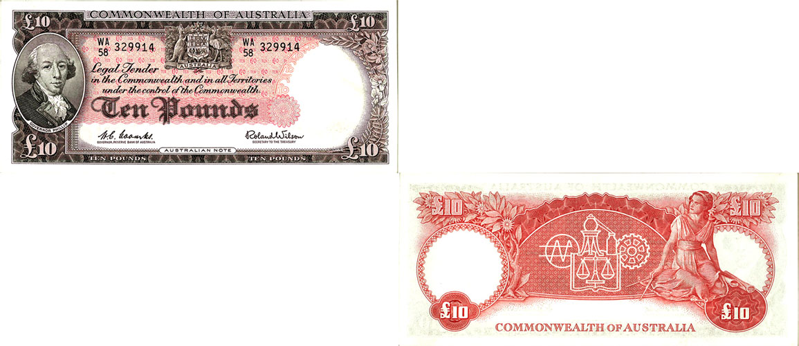 1960 Q.E. II COOMBS & WILSON TEN POUND NOTE