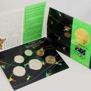 "1992 ROYAL AUSTRALIA MINT ""BARCELONA OLYMPIC GAMES"" UNC SET"
