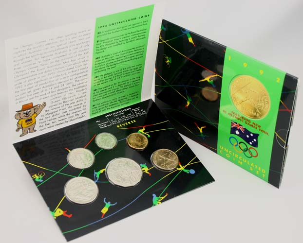 "1992 ROYAL AUSTRALIA MINT ""BARCELONA OLYMPIC GAMES"" UNC SET"