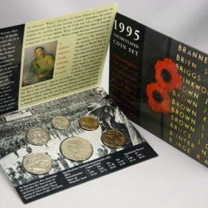 "1995 ROYAL AUSTRALIA MINT ""END OF WW II 50TH ANNIV"" UNC SET"