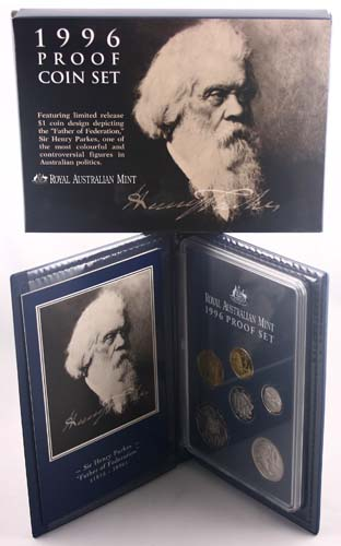 "1996 ROYAL AUSTRALIA MINT ""SIR HENRY PARKES CENTENARY"" PROOF SET"