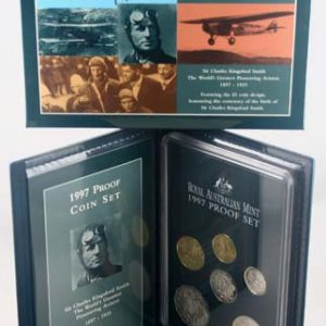 "1997 ROYAL AUST MINT ""SIR CHARLES KINGSFORD-SMITH"" PROOF SET"
