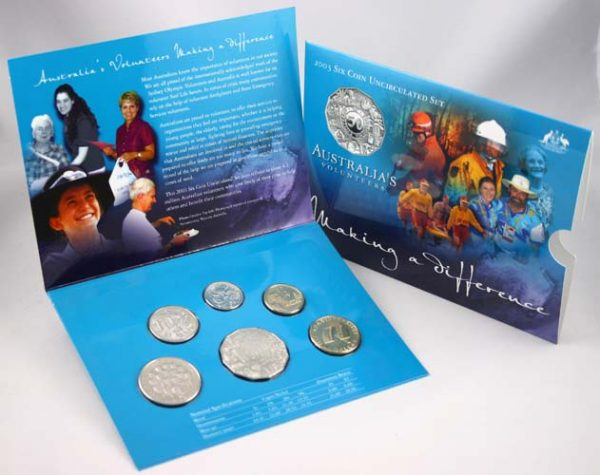 "2003 ROYAL AUSTRALIA MINT ""AUSTRALIA'S VOLUNTEERS"" UNC SET"
