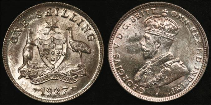 1927 K.G. V AUSTRALIA SHILLING