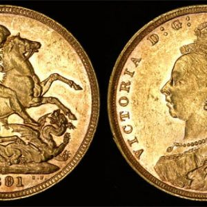1891 SYDNEY MINT JUBILEE HEAD SOVEREIGN (NICE UNC)