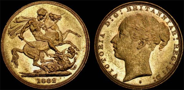 1882 SYDNEY MINT YOUNG HEAD SOVEREIGN