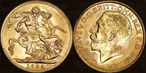 1925 PERTH MINT K.G. V SOVEREIGN