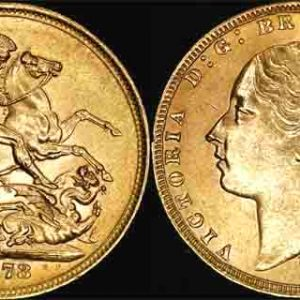 1873 MELBOURNE MINT YOUNG HEAD SOVEREIGN   CHOICE-GEM UNC