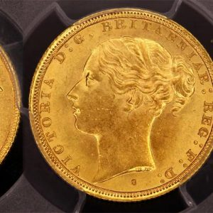 1887 SYDNEY MINT YOUNG HEAD SOVEREIGN  CHOICE UNC  PCGS MS63