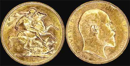 1906 PERTH MINT K.E. VII SOVEREIGN