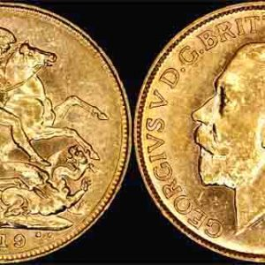 1918 SYDNEY MINT K.G. V SOVEREIGN    Nice UNC