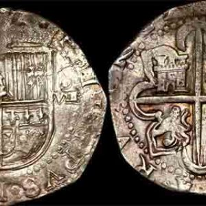 "1556-98  SPAIN  EIGHT REALES  ""Piece of 8"""