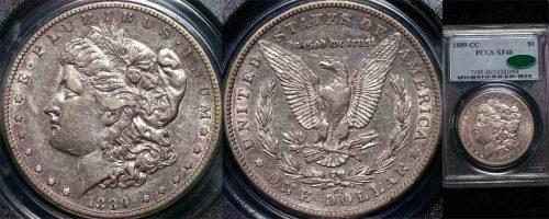 1889 CC UNITED STATES MORGAN DOLLAR  PCGS XF40