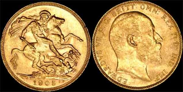 1905 PERTH MINT K.E. VII SOVEREIGN   CHOICE UNC