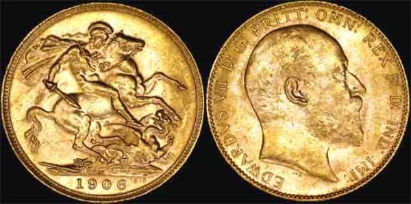 1906 PERTH MINT K.E. VII SOVEREIGN  CHOICE UNC