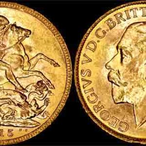 1915 MELBOURNE MINT K.G. V SOVEREIGN