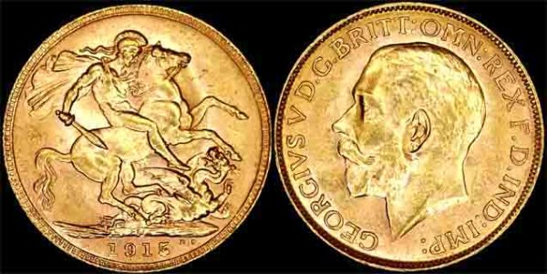 1915 PERTH MINT K.G. V SOVEREIGN