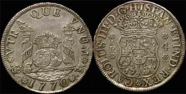 1770 PTS BOLIVIA - CHARLES III 4 REALES